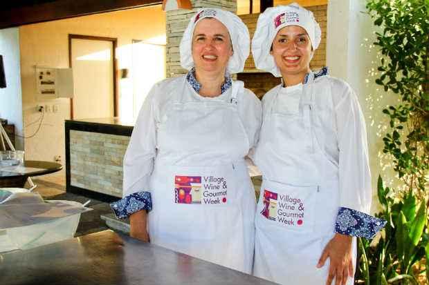 Chefs Eda Tavares e Mariane Bagodi comandam oficina de panificação. Foto: Águila Comunicação/Divulgação