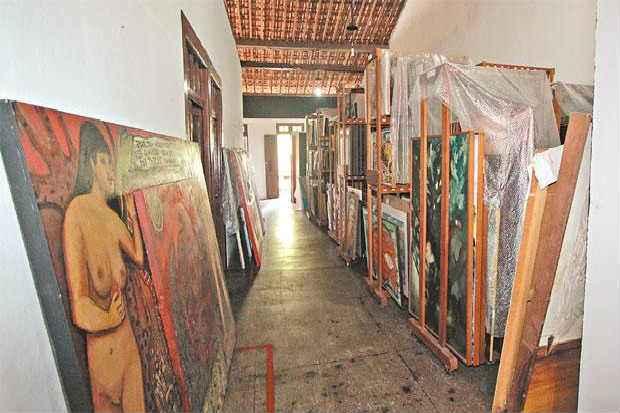 Obras de arte do museu estão guardadas em condições inadequadas