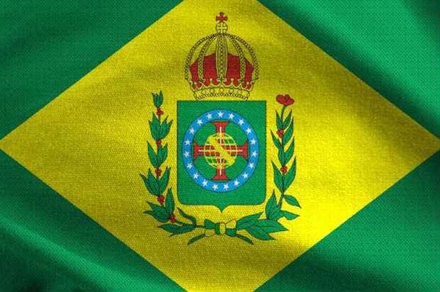 Bandeira brasileira da época do Império (até 1889) (Internet/ Reprodução)