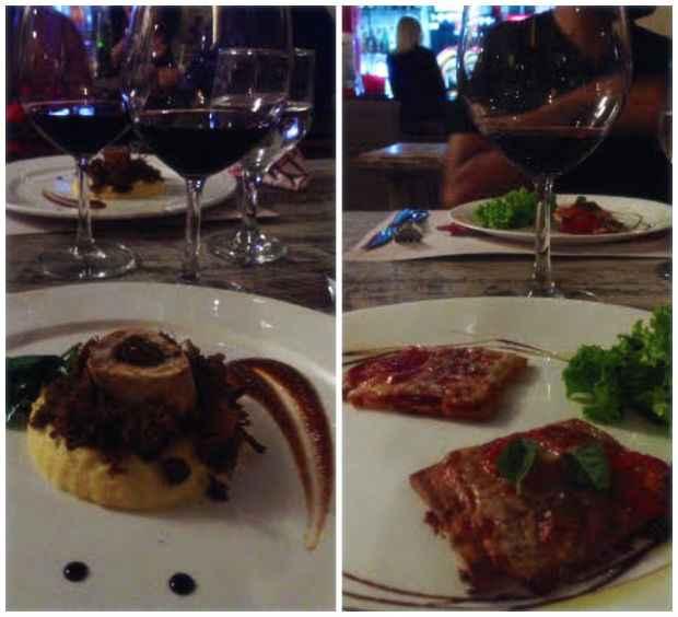 Ossobuco e minipizzas foram alguns dos destaques do menu