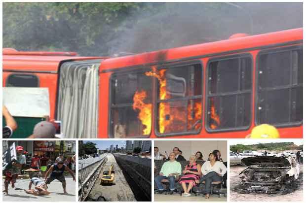 A greve dos ônibus foi o destaque eleito da editoria de Local. Fotos: D.A Press