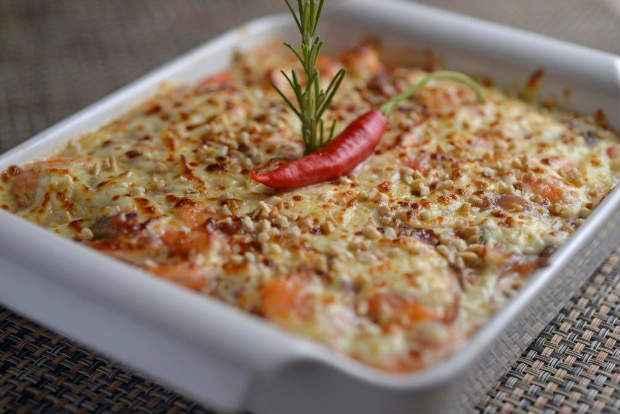 O prato foi elaborado pelo chef francês François Schimitt. Foto: Camarada/Divulgação