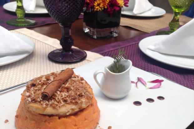 Mousseline de abóbora com tilápia é uma das sugestões. Foto: Club Bardot/ Divulgação