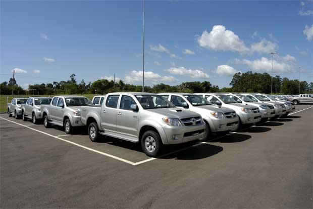 Na foto, o centro de distribuição da Toyota em Guaíba, no Rio Grande do Sul. Foto: Toyota/Divulgação