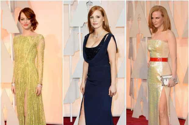 """Nicole Kidman e Emma Stone se destacaram com look """"fenda"""". Crédito: Instagram/Reprodução"""