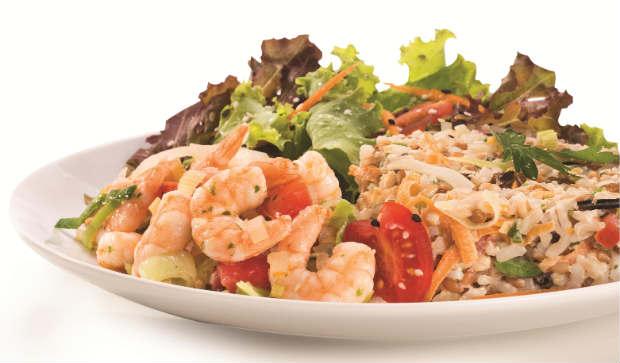Camarões light series está entre as opções da nova linha de pratos saudáveis. Foto: Verbo Comunicação/Divulgação
