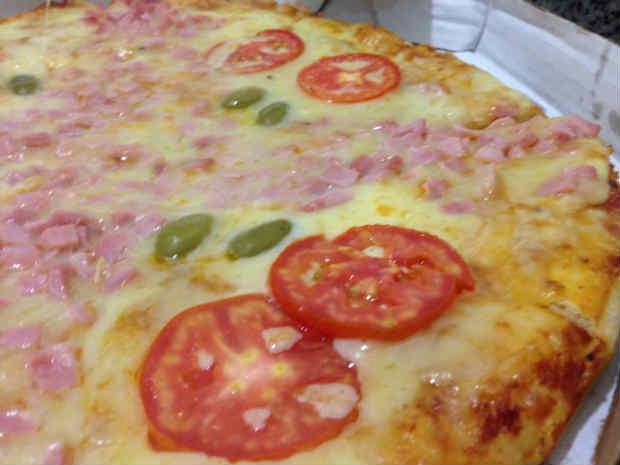 A pizza Daz Olinda é uma das mais pedidas, e está inclusa no cardápio da promoção. Foto: Diogo Carvalho/DP/D.A. Press