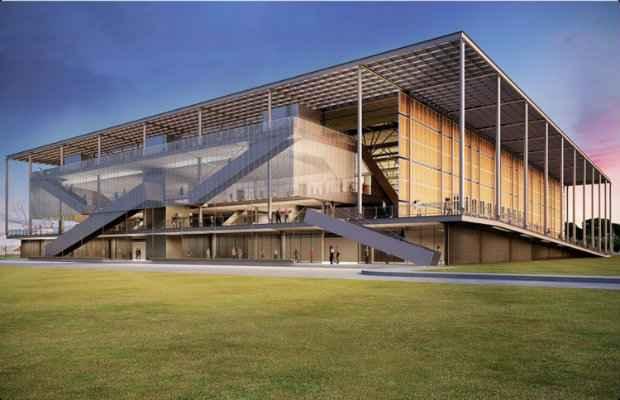 Projeto da arena de Deodoro: local receberá disputas de basquete e esgrima. (Foto: Divulgação)