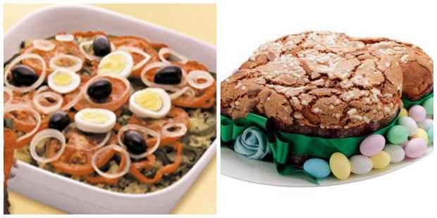 Bacalhoada e Colomba pascal são receitas lights recomendadas pela nutricionista. Foto: Sesi/ Divulgação