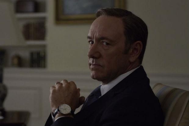 Kevin Spacey como Frank Underwood em cena de House of Cards. Crédito: Netflix/Divulgação