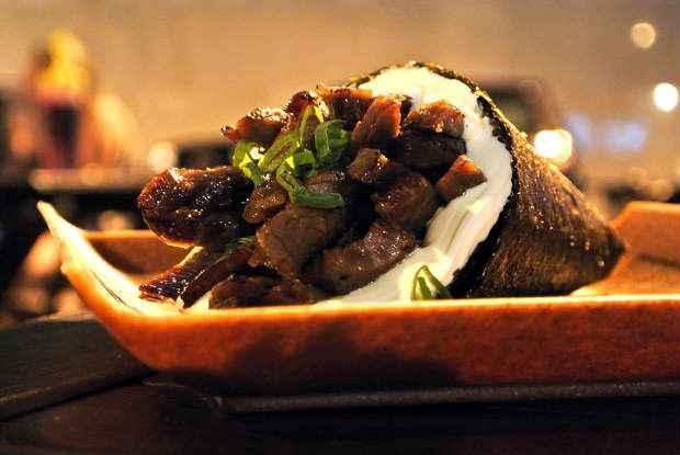 Temaki de Carne de Sol da Barka Temakeria é uma das atrações. Foto: Facebook/ Reprodução