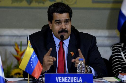 O presidente venezuelano Nicolás Maduro discursa durante reunião, em Caracas, no dia 17 de março de 2015. Foto: AFP/ Federico Parra