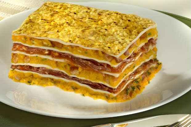 A lasanha de jerimum é uma ótima sugestão para quem gosta de inovar na cozinha e servir pratos diferenciados. Foto: Fortaleza/ Divulgação