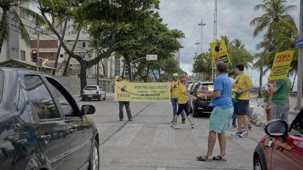 Ativistas fizeram chamada e carreata neste sábado. Foto: Guilherme Verissimo/Esp DP/DA Press