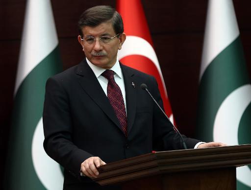 O primeiro-ministro turco Ahmet Davutoglu participa de coletiva de imprensa, em Ancara. Foto: AFP/Arquivos ADEM ALTAN