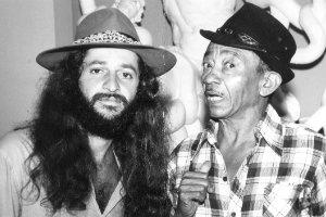Alceu Valença e Jackson do Pandeiro, em 1972. Foto: Arquivo/CB/D.A. Press