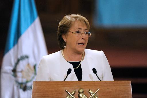 A presidente chilena Michelle Bachelet participa de coletiva de imprensa, na Cidade da Guatemala, no dia 30 de janeiro de 2015. Foto: Johan Ordonez/AFP Photo