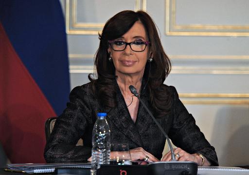 A presidente argentina Cristina Kirchner, em Moscou, no dia 22 de abril de 2015. Foto: Argentinian Presidency/AFP ALEJANDRO AMDAN