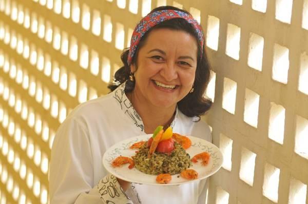 A chef Márcia Latão aposta no arroz de cuxá, que leva o cereal e camarões. Foto: Minervino Junior/CB/D.A Press