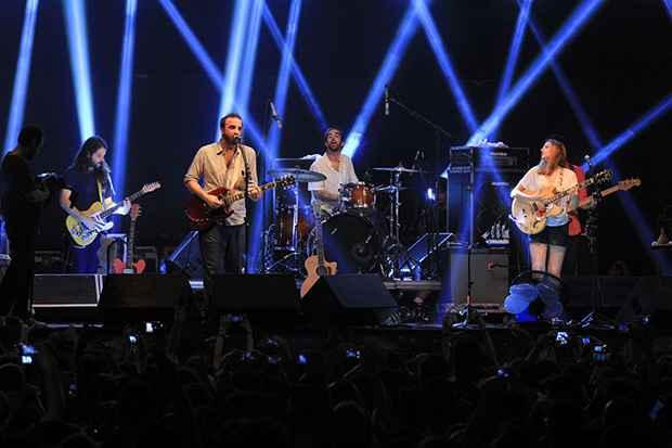 O trio subiu ao palco às 23h desta sexta-feira (24). Foto: Luiz Fabiano/Comunnik/Divulgação