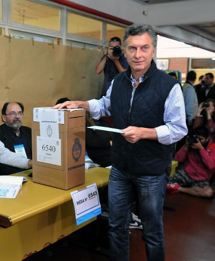 Mauricio Macri vota em 27 de outubro de 2013 nas eleições legislativas. Foto: TELAM/AFP/Arquivos Victoria Egurza