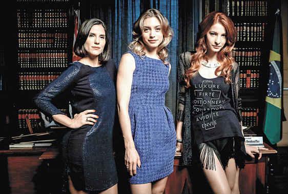 Rafaela Mandelli, Juliana Schalch e Michelle Batista estrelam a série. Foto: HBO/Divulgação