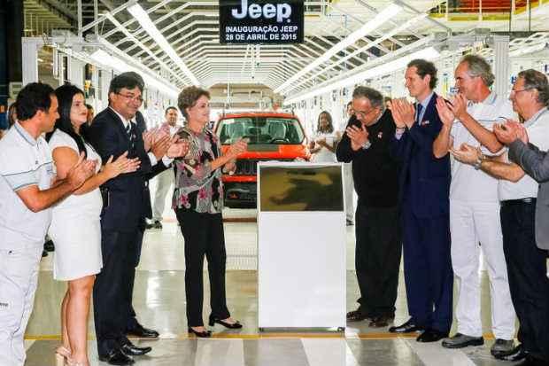 Cerimônia de inauguração da fábrica contou com a presença da presidente Dilma Rousseff. Foto: R oberto Stuckert Filho/PR