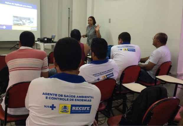 Novos agentes em treinamento. Foto: Secretaria de Saúde do Recife/Cortesia
