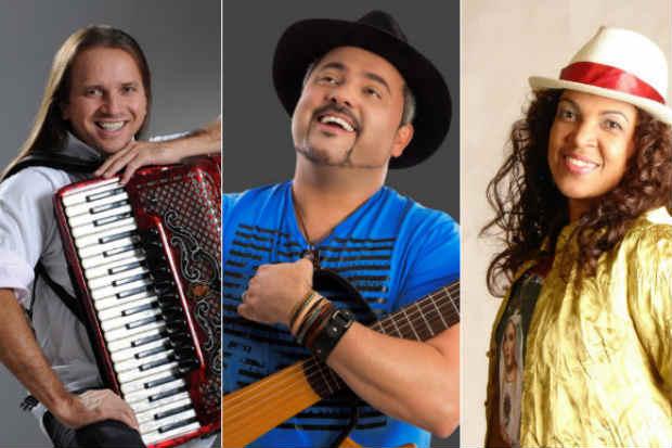 Dorgival Dantas, Geraldinho Lins e Nádia Maia estão entre as atrações do Festival Viva Dominguinhos. Foto: Reprodução/Internet
