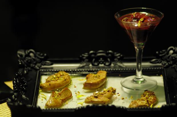 Foie Gras com Pistache e ingredientes sofisticados. Foto: João Velozo/ Esp. DP/ D. A Press