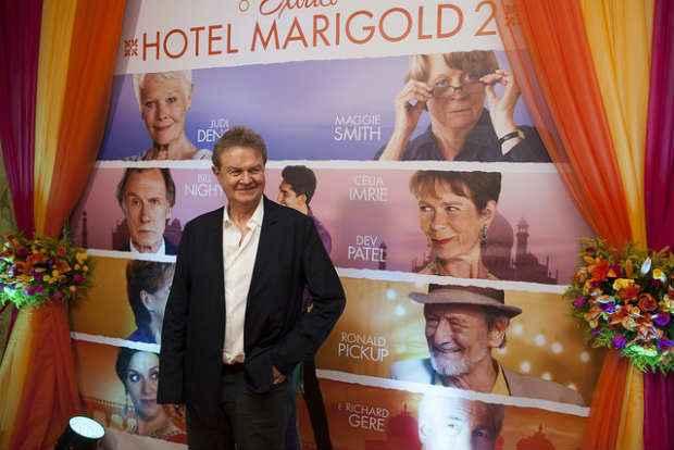 Diretor John Madden veio ao Recife para première de %u201CO exótico Hotel Marigold 2%u201D. Foto: Daniela Nader/Divulgação
