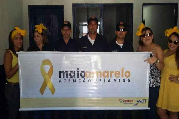 Integrantes do Maio Amarelo. Foto: divulgação
