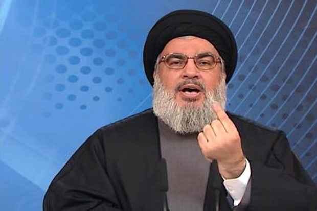 Hassan Nasrallah, chefe do movimento xiita libanês Hezbollah, no dia 5 de maio de 2015. Foto: Al-Manar TV/AFP Ho