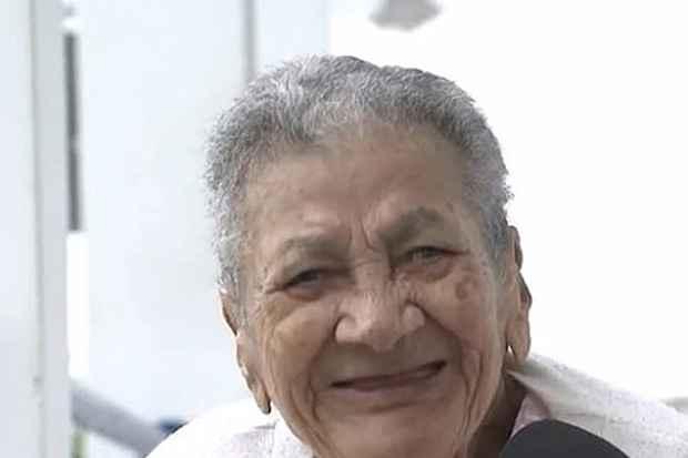 Baiana pode ser a mulher mais velha do mundo. Foto: TV Bahia/Reprodução