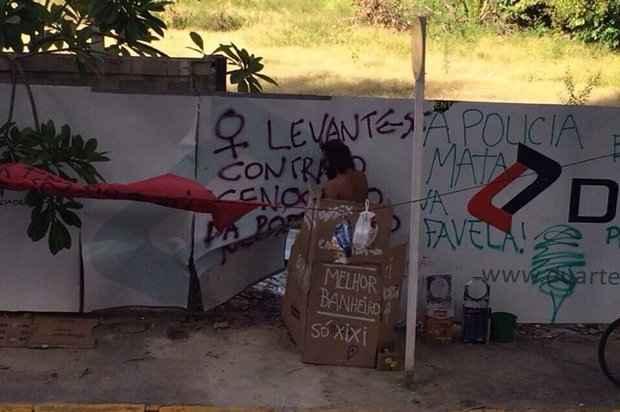 Terreno virou banheiro improvisado. Foto: WhatsApp/Reprodução