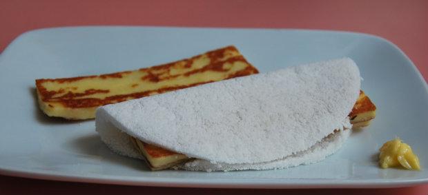 Tapioca de queijo coalho. Foto: Bernardes Comunicação/ Divulgação