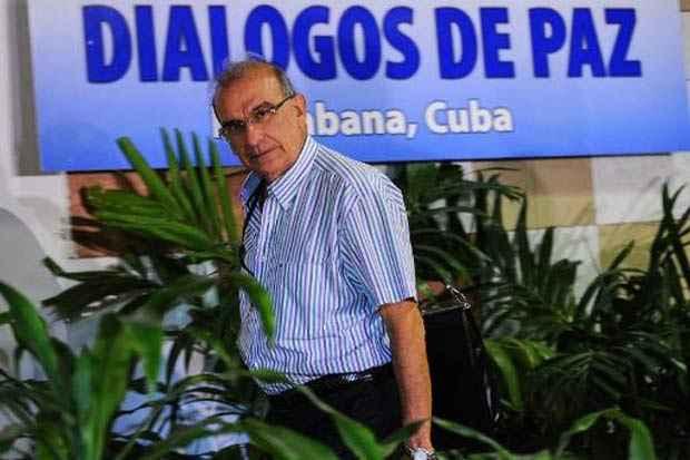 Humberto de la Calle, negociador da delegação colombiana, em Havana, no dia 4 de março de 2015. Foto: Yamil Lage/AFP/Arquivos