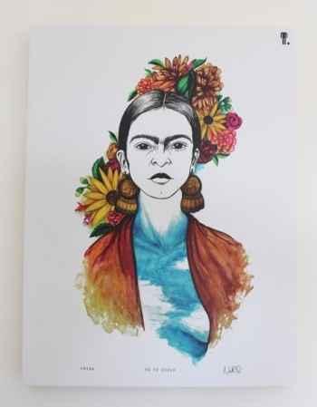 Frida é uma das personalidades retratadas por Nathália Queiroz. Foto: Nathália Queiroz/Divulgação