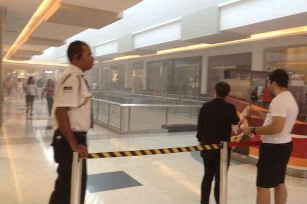 Fumaça atingiu a 3ª etapa do centro de compras.Foto: Romeu Santos Junior/ Reprodução/ Facebook