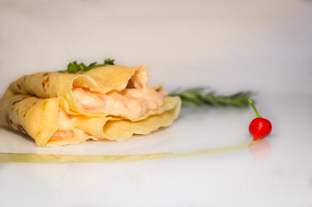 Crepe de camarão com queijo do reino é um dos destaques. Foto: Raissa Jordão/ Divulgação