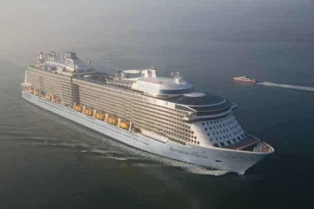 Anthem Of The Seas, da Royal Caribbean, está entre os navios mais disputados da temporada. Foto: Smon Brooke-Webb/sbw-photo