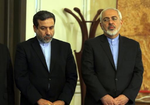 Vice-ministro iraniano das Relações Exteriores, Abas Araghchi (E), e ministro iraniano das Relações Exteriores, Javad Zarif. Foto: Atta Kenare/AFP