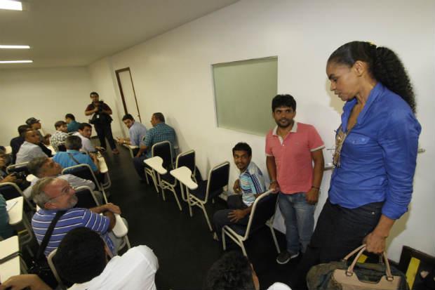 A ex-senadora chegou ao evento com quase duas horas de atraso e não falou com a imprensa. Foto: Ricardo Fernandes/DP/D.A Press