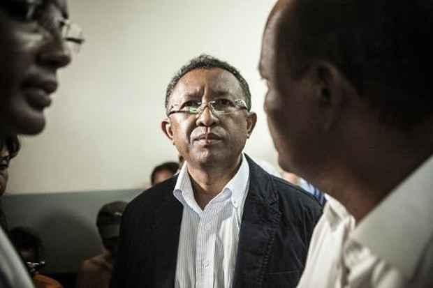 Hery Rajaonarimampianina, presidente de Madagascar, em Antananarivo, no dia 25 de janeiro de 2014. Foto: Rijasolo/AFP/Arquivos