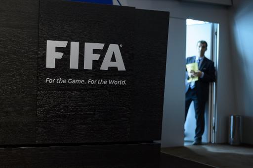 Logo da Fifa, em Zurique. Foto: Fabrice Coffrini/AFP