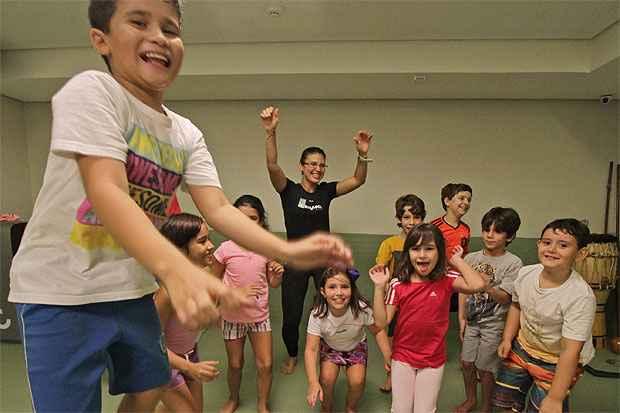 A recém-inaugurada Bodytech, em Boa Viagem, conta com o Fitness kids, aula voltada exclusivamente para crianças. Foto: Roberto Ramos/DP/D.A Press