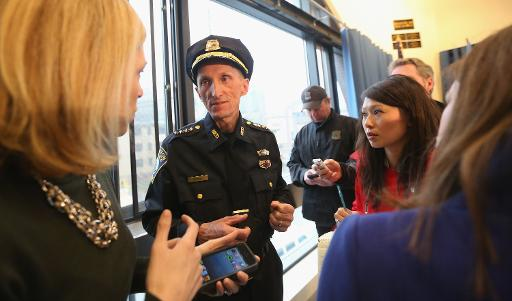 O superintendente do Departamento de Polícia de Boston, William Evans. Foto: Mario Tama/AFP