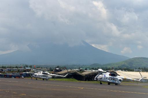 (Arquivo) O aeroporto de Goma, na República Democrática do Congo, no dia 16 de março de 2013. Foto: Junior D. Kannah/Arquivos/ AFP
