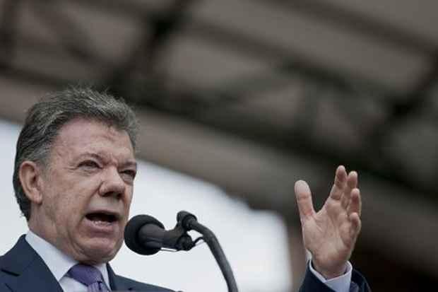 O presidente da Colômbia, Juan Manuel Santos. Foto: Guillermo Legaria/AFP