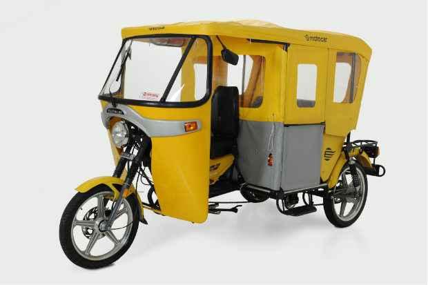 Triciclo para transporte de pessoas e cargas terá três modelos disponíveis no mercado. Foto: Motocar/Divulgação